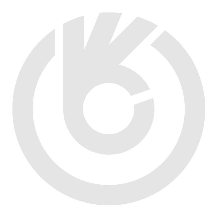Schuifzeil gesp RVS, zwart band 60 cm. met platte haak