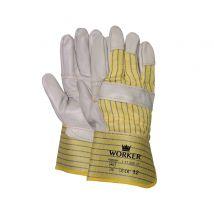 Werkhandschoen M-safe Rundnerfleder met gerubberiseerde kap en palmversterking maat 10