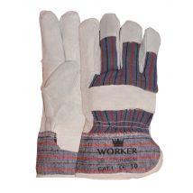 Werkhandschoen M-safe rundsplitlederen Amerikaantje met palmversterking maat 10