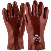 Werkhandschoen M-Safe PVC rood  - lengte naar keuze