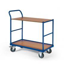 Tafelwagen 250 kg 850 x 500 mm - 2 laadvlakken