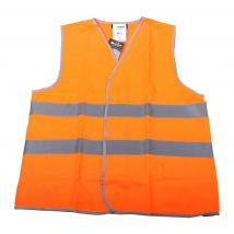 Veiligheidsvest M-Wear 0167 maat M/L | Verkeersvest fluor oranje voorkant