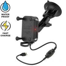 RAM Mount Tough-Charge waterproof draadloze oplader met zuignap
