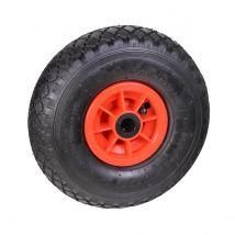 Steekwagenwiel Luchtband Rollader Zwart/Rood