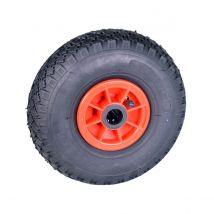 Steekwagenwiel Luchtband Rollader Asgat 25mm Zwart/Rood