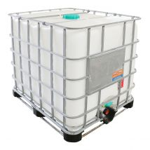 IBC Container A-keus Gebruikt schoon 1.000 liter - Combi Onderstel