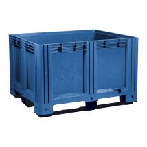 Kunststof palletbox Blauw 1200 x 1000