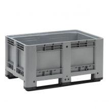 Kunststof Palletbox Grijs 1200 x 800 x 600 mm 2 sleden - 333 liter