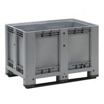Kunststof Palletbox Grijs 1200 x 800 x 780 mm 2 sleden - 475 liter