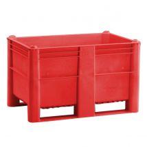 Kunststof Palletbox Rood 1200 x 800 x 760 mm 2 sleden - 520 liter