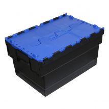 Distributiebak zwart/blauw 600 x 400 x 320 mm