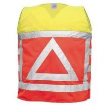 Verkeersregelaarsvest M-Wear oranje-geel met reflectiedriehoek maat XL