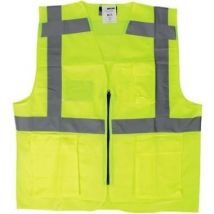 Veiligheidsvest M-Wear 0170 fluo geel met rits en zakken maat M/L
