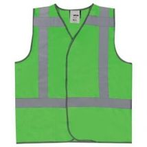 Veiligheidsvest M-Wear 0185 Fluo groen met RWS-strepen maat M/L