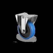 Bokwiel blauw elastisch rubber rollager Ø 100 mm
