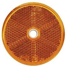 Plak/schroef reflector rond Ø 60MM oranje