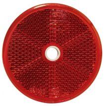 Plak/schroef reflector rond Ø 60MM rood