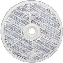 Plak/schroef reflector rond Ø 60 mm wit