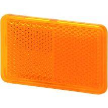 Plakreflector oranje rechthoek 105 x 55 mm