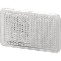 Plakreflector wit rechthoek 105 x 55 mm