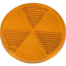 Plakreflector oranje rond Ø 60 mm