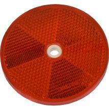 Schroefreflector rood rond Ø 80 mm