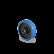 Los wiel blauw elastisch rubber rollager Ø 100 mm