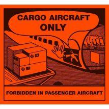 Etiket Cargo Aircraft Only 110 x 120 mm - 1.000 etiket/rol