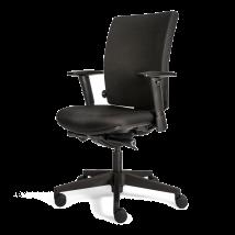 Bureaustoel 706+ Comfort rug zwart