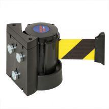 Wandriem geel/zwart magnetisch 4000 mm