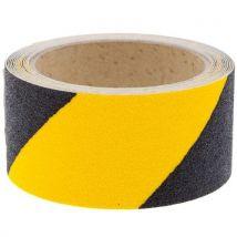 Antislip tape zelfklevend geel/zwart 50 mm breed