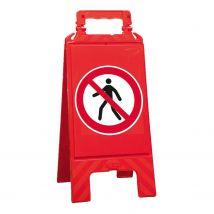 Waarschuwingsbord rood verboden voor voetgangers