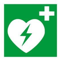 AED apparaat kunststof plaat 200 x 200 mm