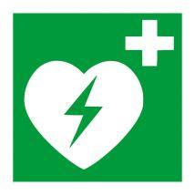 AED apparaat vinyl sticker 200 x 200 mm