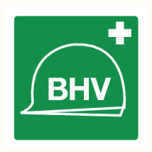 Pictogram BHV vinyl sticker 200 x 200 mm