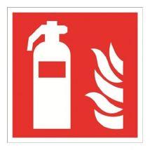 Brandblusser kunststof plaat 200 x 200 mm