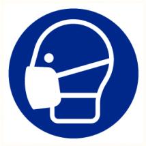 Stofmasker verplicht vinyl sticker Ø 200 mm