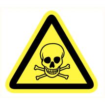 Giftige stoffen vinyl sticker 200 mm