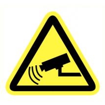 Camerabeveiliging vinyl sticker 200 mm