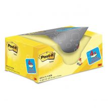 3M Post-it Notes - 38x51 mm - Geel - 100 vel - (Pak 16 + 4 gratis)