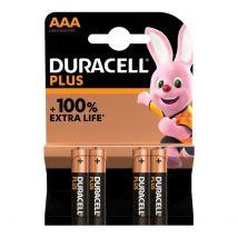 Duracell batterijen Plus AAA - Blister van 4 stuks