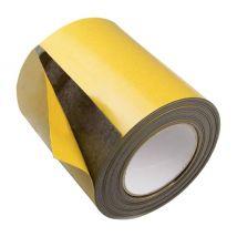 Magneetband op rol 150 mm x 1 meter geel