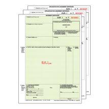 EUR 1 Certificaat Engelstalig - laser 3 voud (25 sets)
