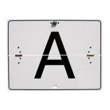 A-bord wit reflecterend 400x300x1 mm horizontaal klapbaar