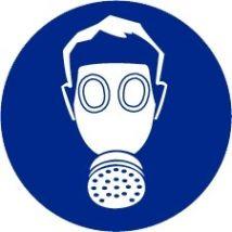 Adembescherming verplicht vinyl 200 mm