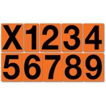 Los ADR cijfer vinyl sticker 115 x 80 mm
