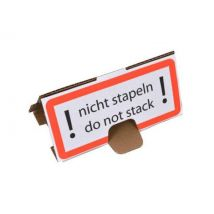 Anti-stapelhoedjes ! nicht stapeln - do not stack ! 200x95x95 mm.