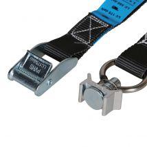 Bagagegordel 2-delig 25 mm 2M Zwart met Spanoog Fitting