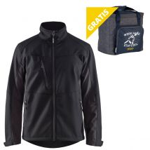 Werkjas Blåkläder Softshell Zwart/Grijs