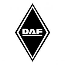 Stickers Hoekschild DAF - Kleur en Afmetingen naar keuze